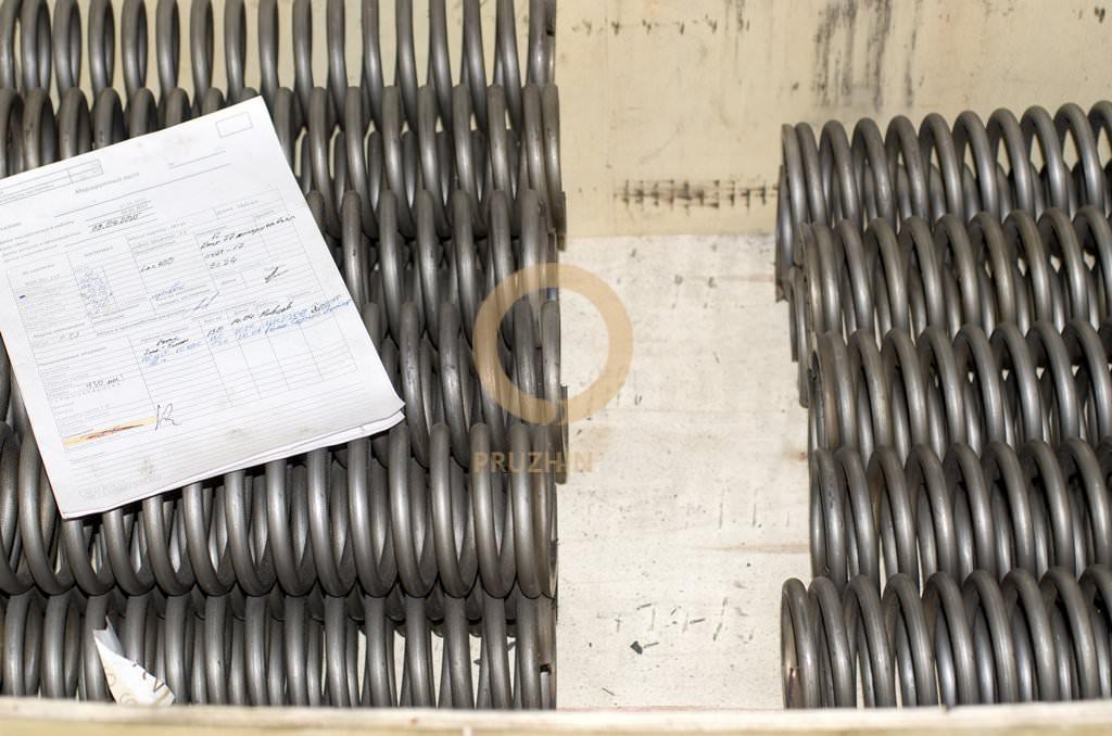 Пружины на стадии производства, изготовление пружин